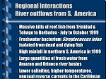 regional interactions river outflows from s america1
