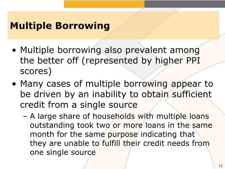 Multiple Borrowing