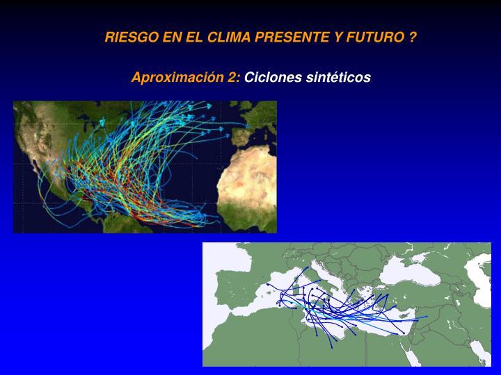 RIESGO EN EL CLIMA PRESENTE Y FUTURO ?