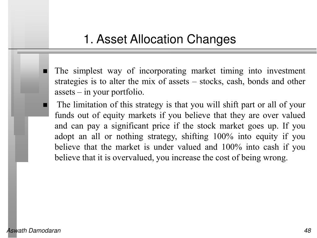 1. Asset Allocation Changes