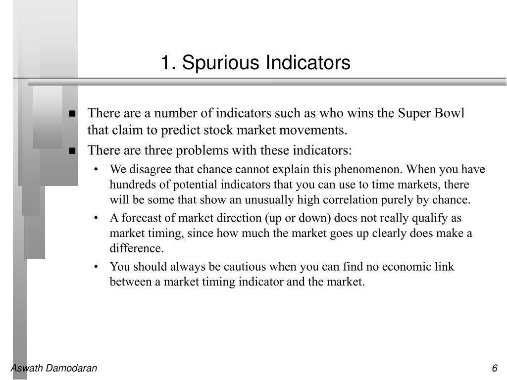 1. Spurious Indicators