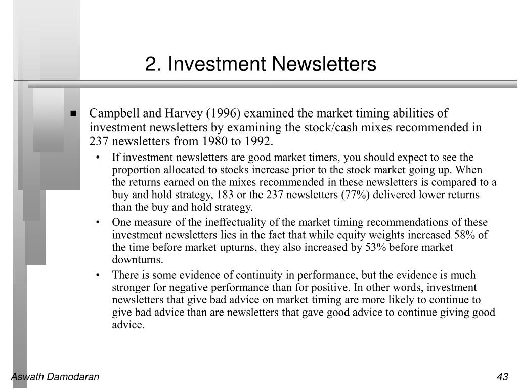 2. Investment Newsletters