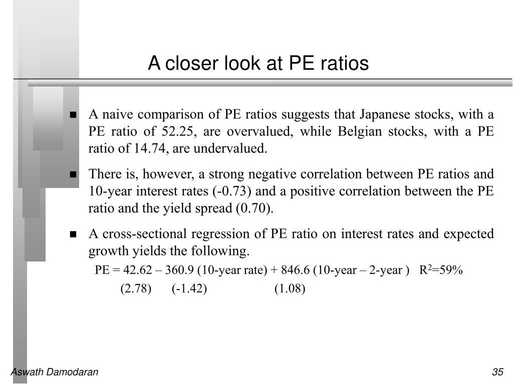 A closer look at PE ratios