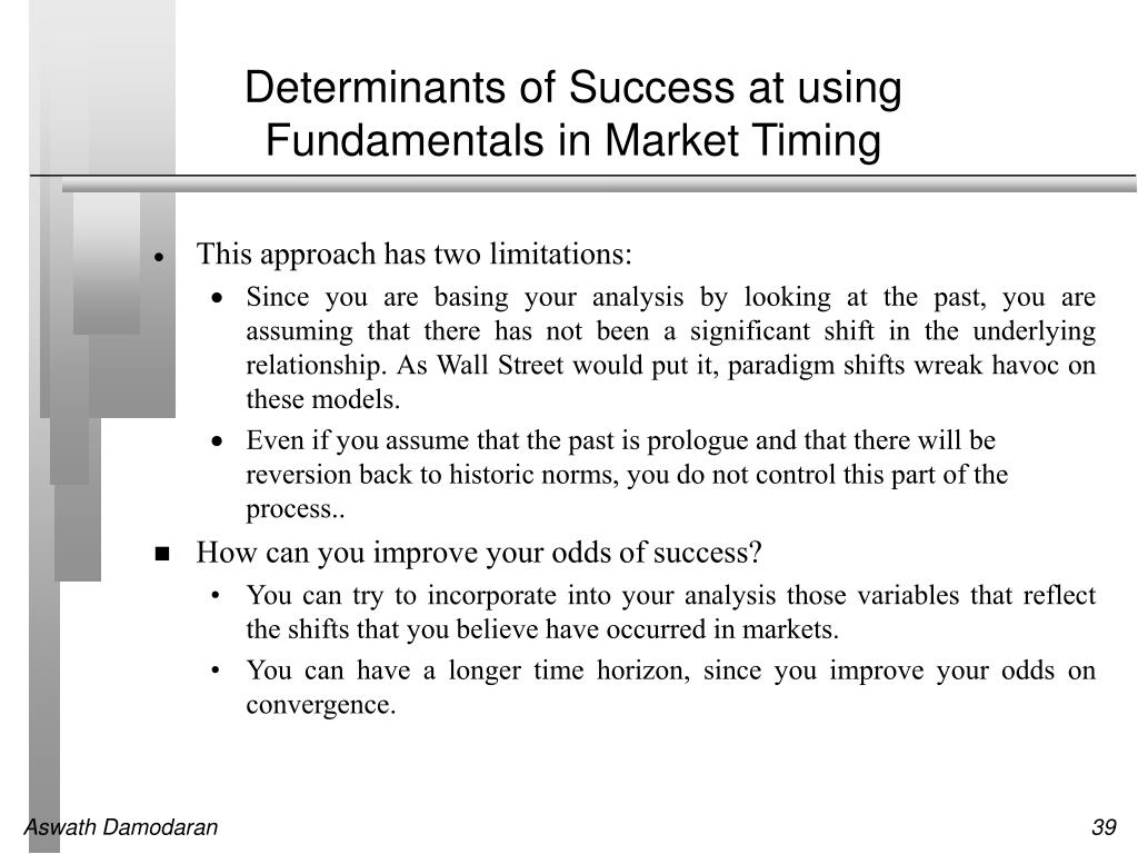Determinants of Success at using Fundamentals in Market Timing