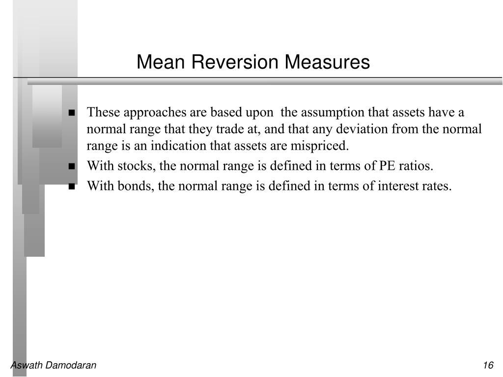 Mean Reversion Measures