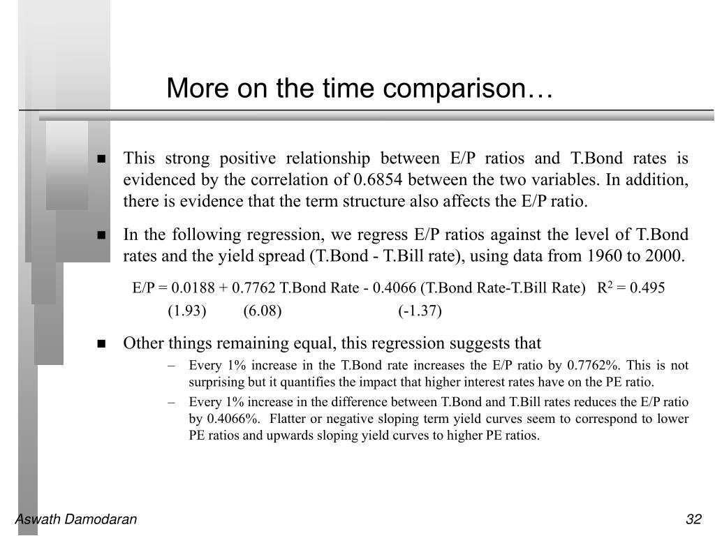 More on the time comparison…