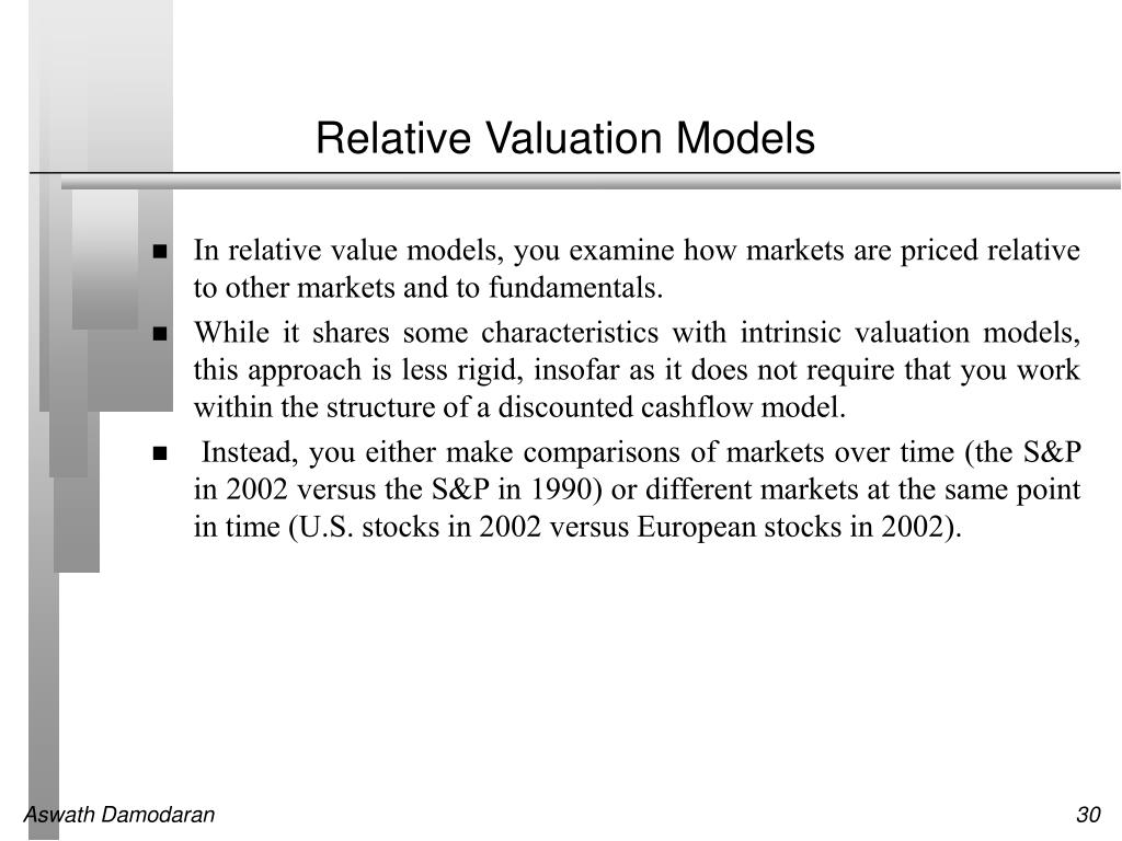 Relative Valuation Models