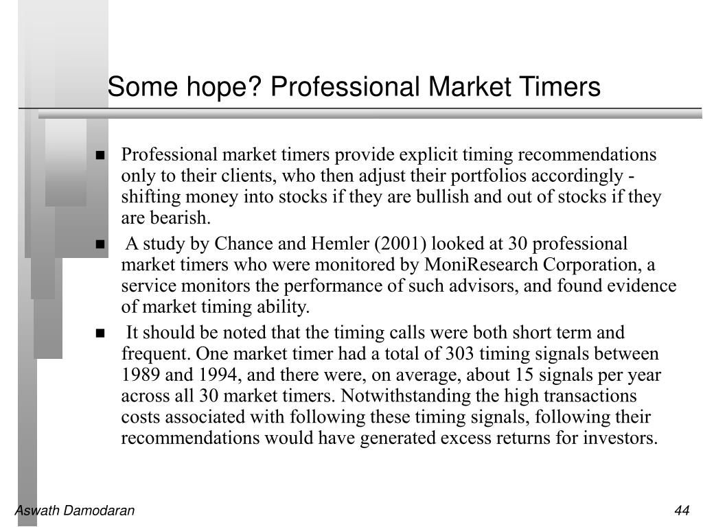 Some hope? Professional Market Timers
