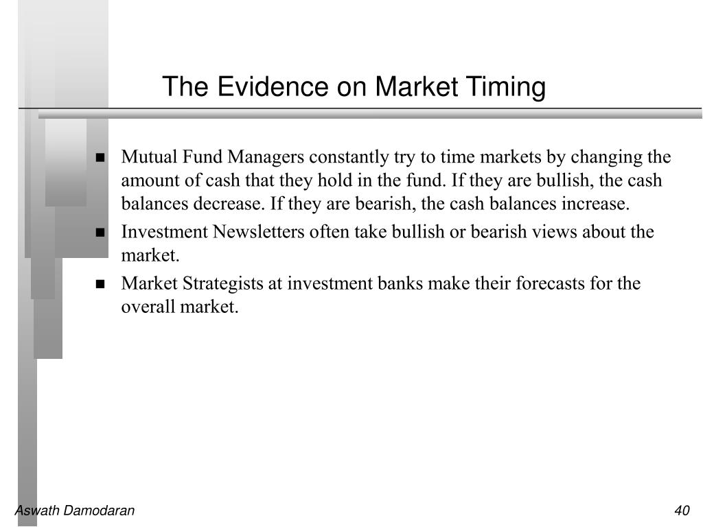 The Evidence on Market Timing