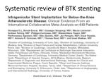 systematic review of btk stenting