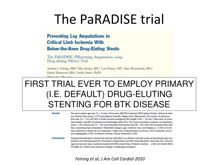 The PaRADISE trial
