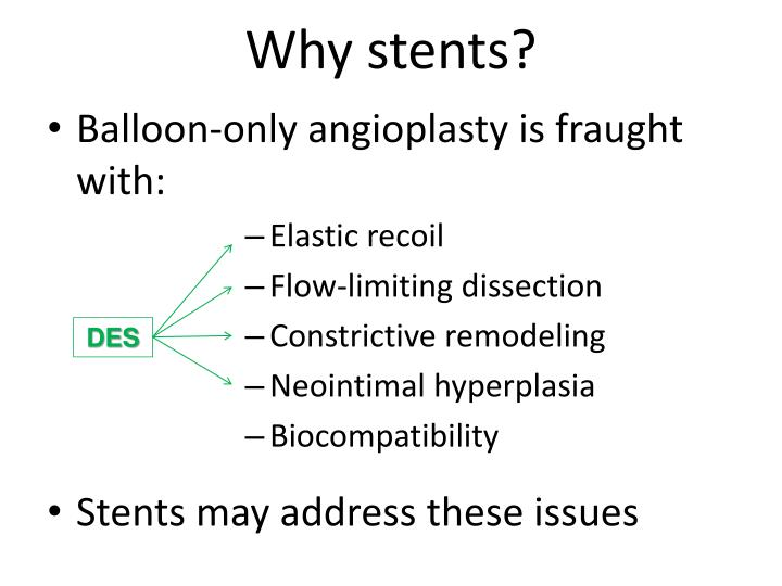 Why stents?