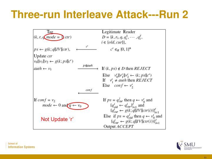Three-run Interleave Attack---Run 2