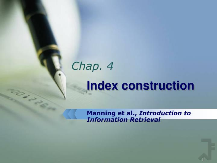 Index construction