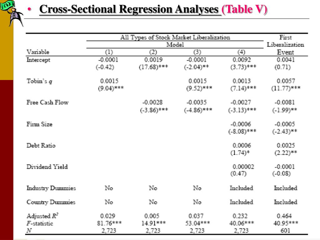 Cross-Sectional Regression Analyses