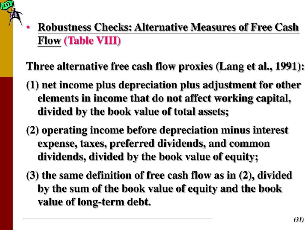 Robustness Checks: Alternative Measures of Free Cash Flow
