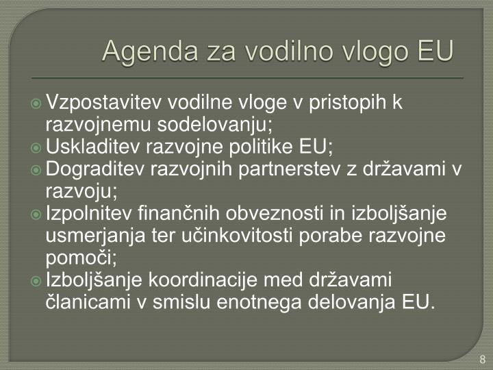 Agenda za vodilno vlogo EU