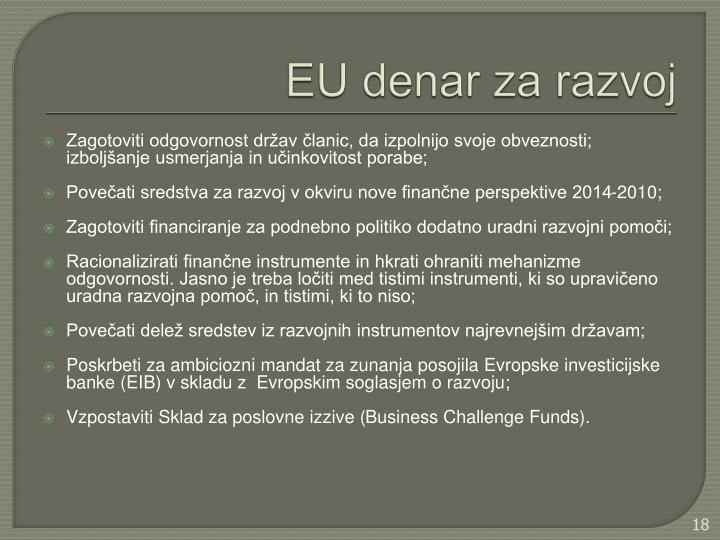 EU denar za razvoj