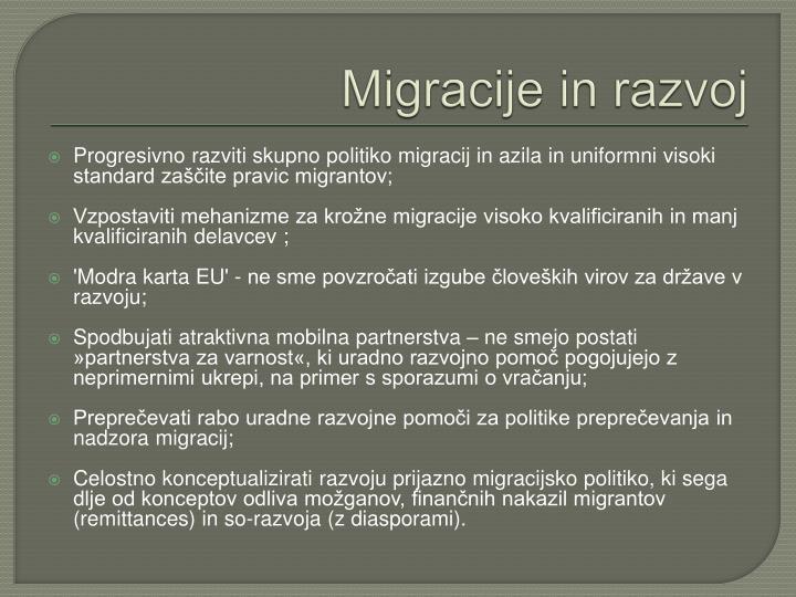 Migracije in razvoj