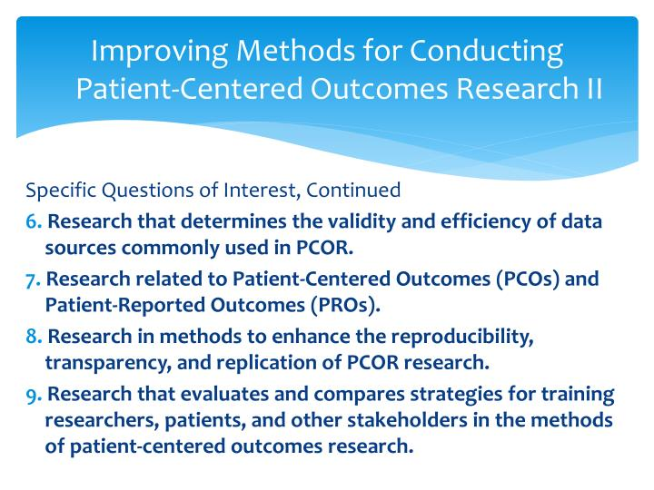 Improving Methods for Conducting Patient-Centered Outcomes Research II