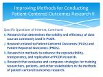 improving methods for conducting patient centered outcomes research ii