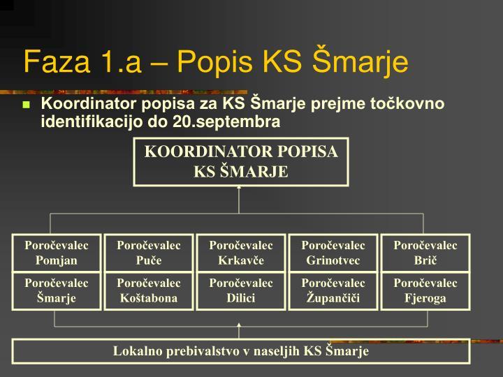 Faza 1.a – Popis KS Šmarje