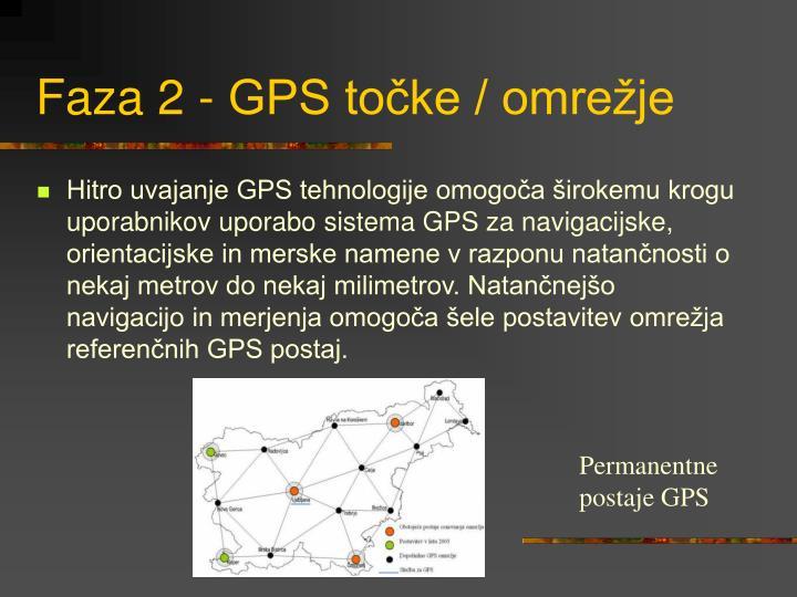 Faza 2 - GPS točke / omrežje