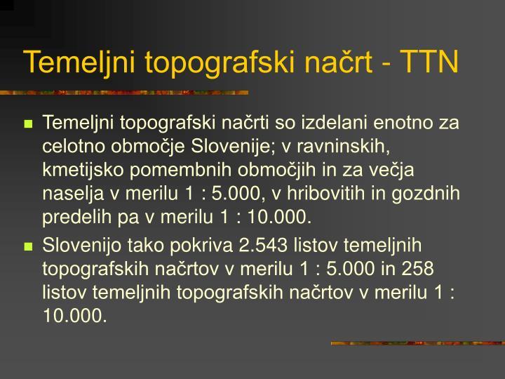 Temeljni topografski načrt - TTN