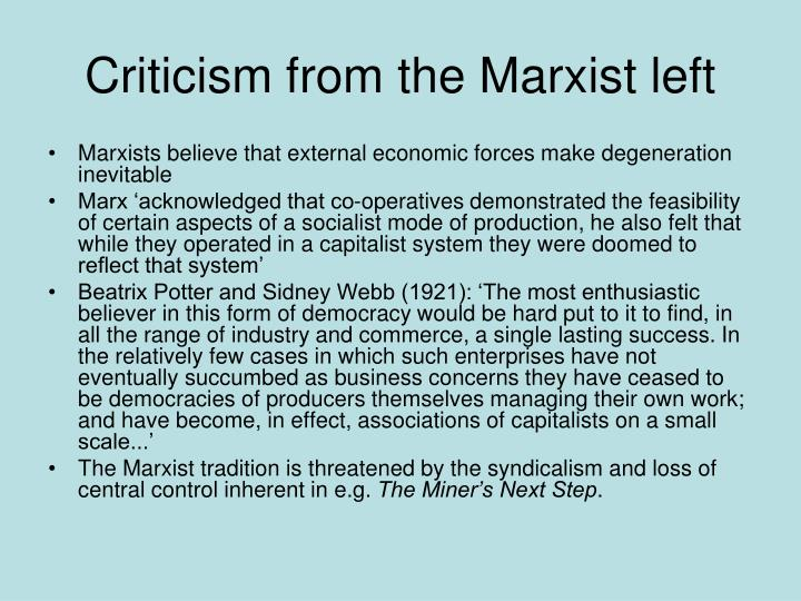 Criticism from the Marxist left