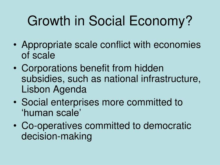 Growth in Social Economy?