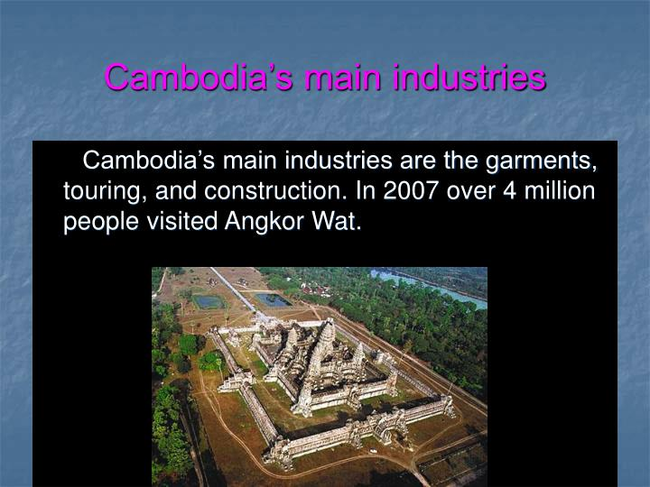 Cambodia's main industries