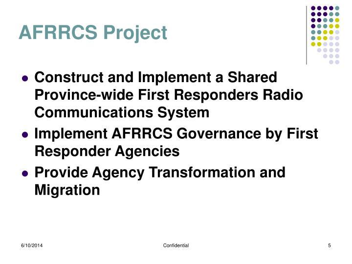 AFRRCS Project