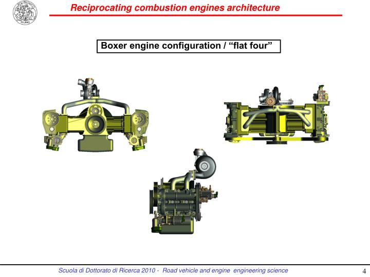 "Boxer engine configuration / ""flat four"""