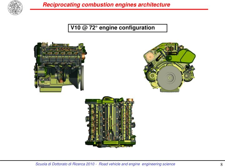 V10 @ 72° engine configuration