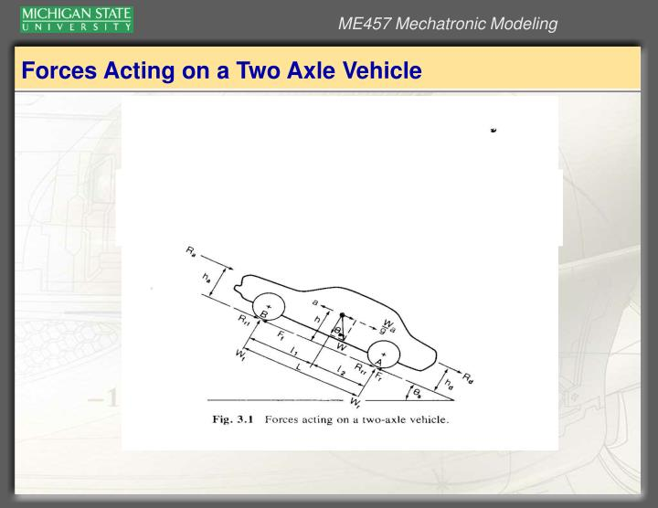 Forces Acting on a Two Axle Vehicle