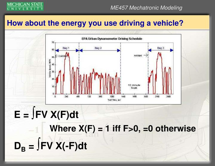 How about the energy you use driving a vehicle?
