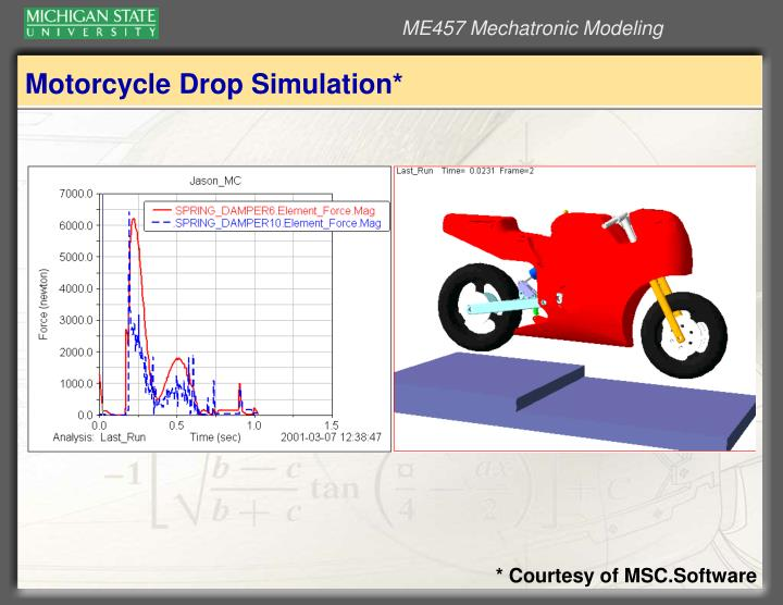 Motorcycle Drop Simulation*