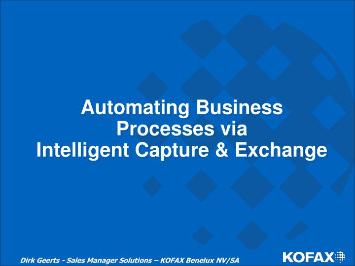 Automating Business Processes via