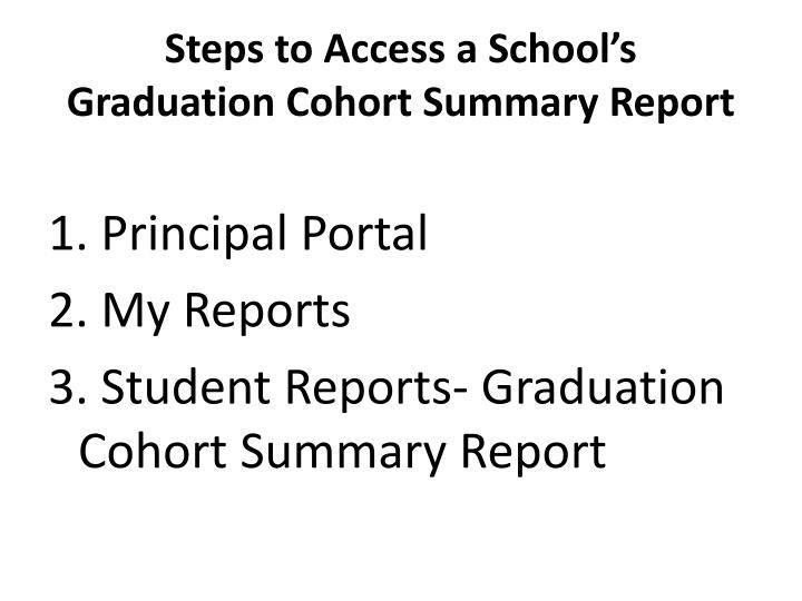 Steps to Access a School's