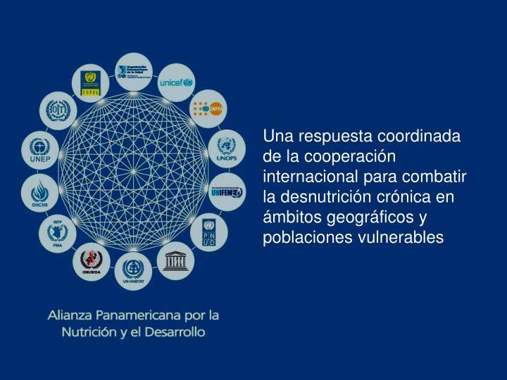Una respuesta coordinada de la cooperación internacional para combatir la desnutrición crónica en ámbitos geográficos y poblaciones vulnerables