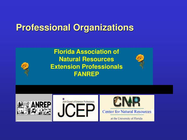Florida Association of Natural Resources Extension Professionals