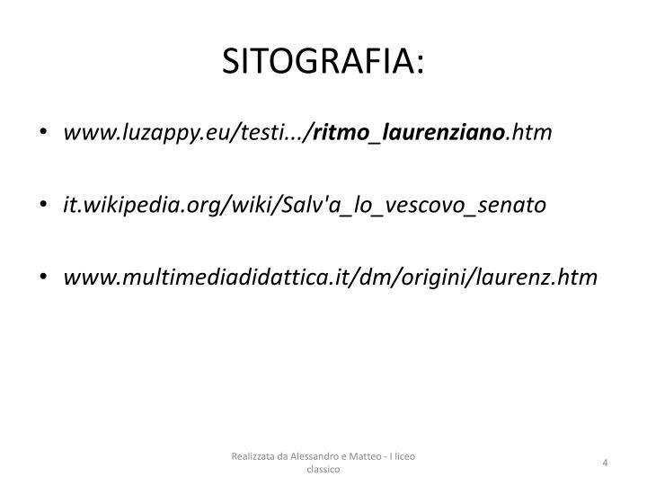 SITOGRAFIA: