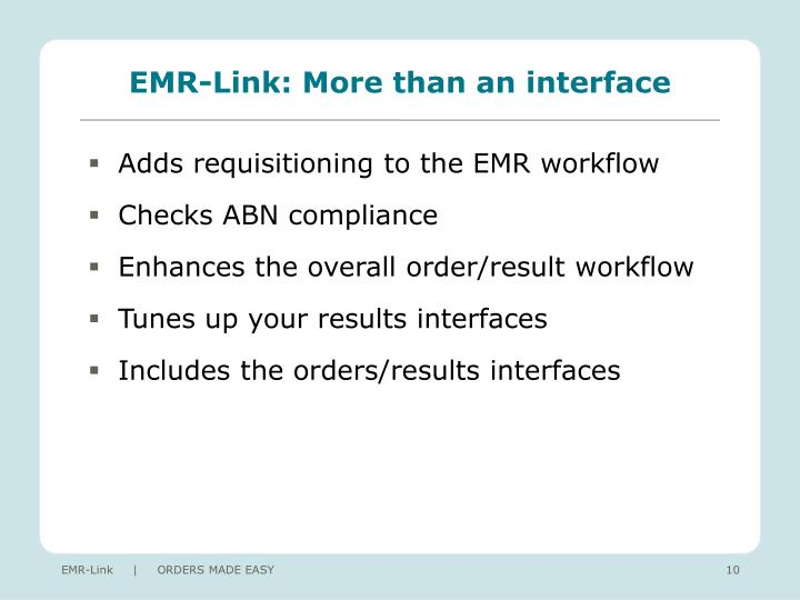 EMR-Link: More than an interface