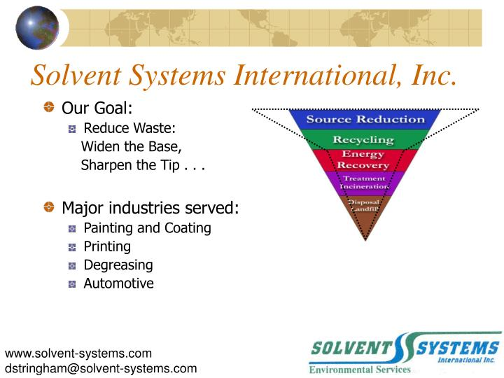 Solvent Systems International, Inc.