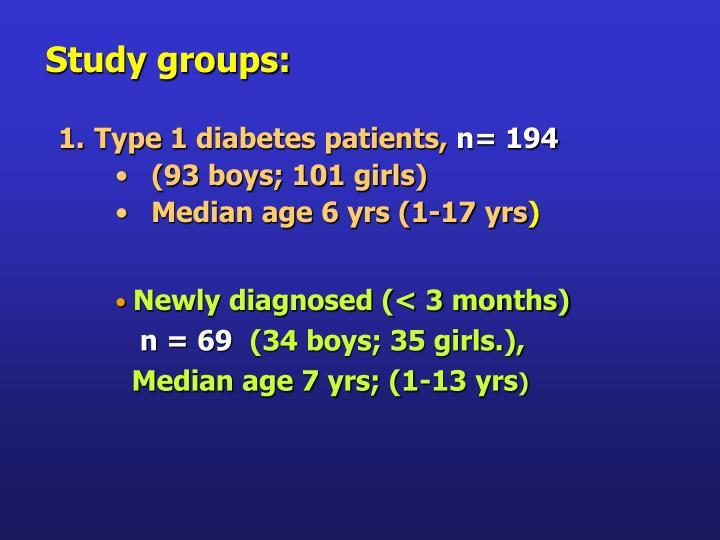 Study groups: