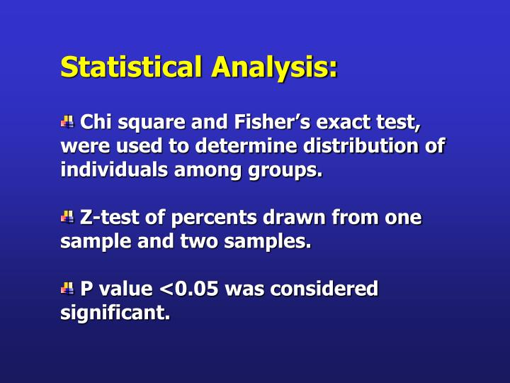 Statistical Analysis: