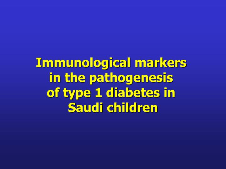 Immunological markers