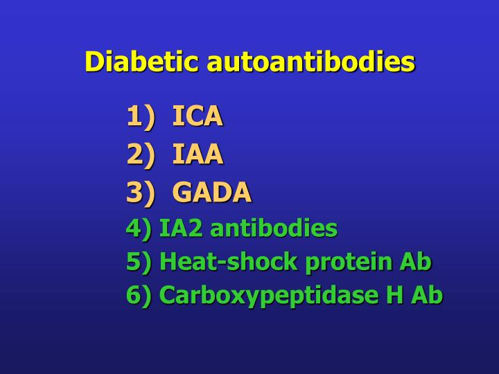 Diabetic autoantibodies