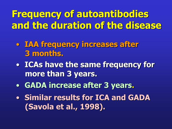 Frequency of autoantibodies
