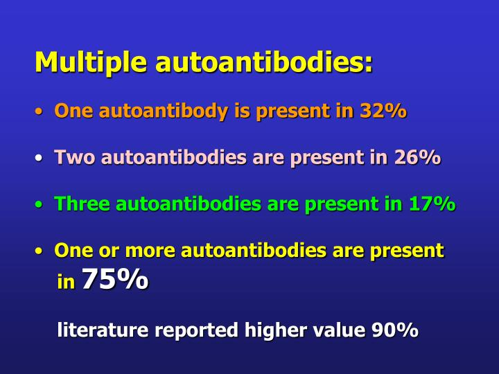 Multiple autoantibodies: